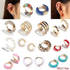 1PC/2 Pcs New <b>Bohemian Imitation Pearls</b> Ear Cuff For Women Girl ...