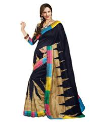 Gopi Saree Design Gopi Creation Black Bhagalpuri Silk Saree Buy Gopi