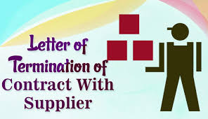 Letter To Terminate Contract With Supplier Format For Business Contract Termination Letter With