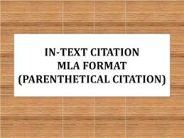 Ppt In Text Citation Mla Format Parenthetical Citation