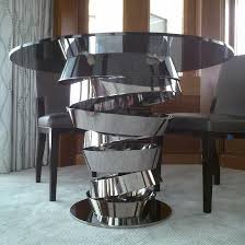 stainless steel furniture designs. Stainless Steel Base Glass Top Dining Table In Modern Custom Metal Furniture Design Ideas: Designs