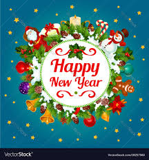 Happy New Year Decoration Greeting Card