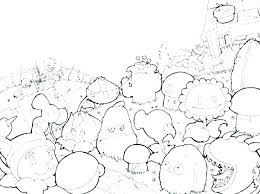 Plants Vs Zombies Coloring Pages Cattail Plant Zombie Free Online