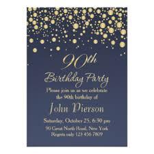 90th Birthday Invitations Zazzle Uk