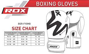 Boxing Glove Size Chart Rdx Boxing Gloves For Training Muay Thai Matte Black Convex Skin Leather Gloves For Sparring Kickboxing Fighting Punch Bags And Focus Pads