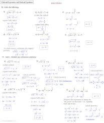 solving radical equations worksheet answers tessshlo radical equations part 2 tessshlo