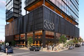 Three Story Commercial Building Designs West Loop Development Update Three Office Towers And Movie