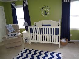 Image of: Green Curtains for Nursery Models