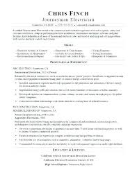 Sample Journeyman Electrician Resumes Journeyman Electrician Resume Sample Electrician Cover Letter
