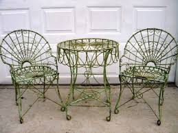 Wrought iron patio chairs Modern Metal Rustic Garden Wrought Iron Table W Chairs Garden Patio Furniture
