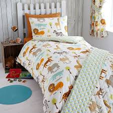 my safari animals junior duvet cover and pillowcase set co uk kitchen home