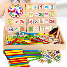montessori wooden early educational toy for children baby diy materials math study educative toy chrismas gift colorful
