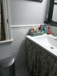 chair rail bathroom.  Chair Tile Chair Rail Bathroom Graceful Q Should I  Continue Floor   For Chair Rail Bathroom E