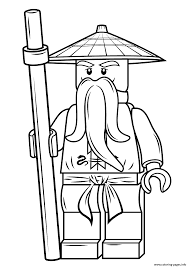 Small Picture lego ninjago sensei wu Coloring pages Printable