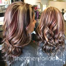Dark Brown With Red And Blonde