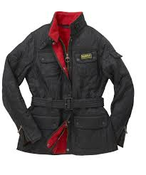 Ladies Barbour International quilt Jacket black red : 2015 Barbour ... & Ladies Barbour International quilt Jacket black red Adamdwight.com