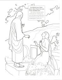 Easter Coloring Page Ldsll