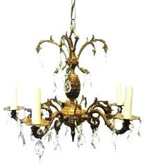spain chandelier vintage light brass chandelier with prisms