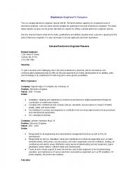 electronics engineer resume electronic engineer resume sample