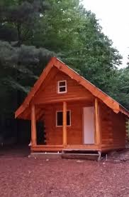 cabin camping in the woods. Photo Of The Six Person Camping Cabin At Gammy Woods Campgound In Weidman, MI, R