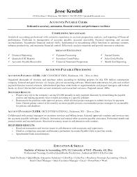 Accounts Payable Clerk Resume Sample Accounts Payable Clerk Resume Resume Central 2