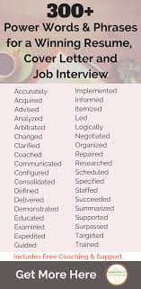 cover letter power words create stunning resumes cover letters and websites so you can land