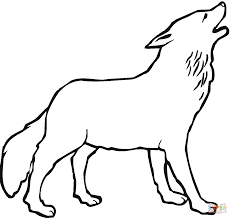 Howling Wolf Coloring Pages Page Free Printable 12001133