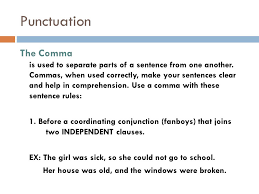 when is a comma used punctuation june punctuation the comma is used to separate parts of