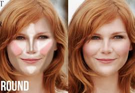 highlight and contour makeup guide for round face shape