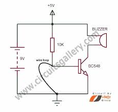 simple wire loop alarm circuit schematics for door security wire loop alarm circuit schematics