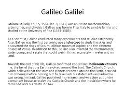galileo galilei essay nicola gennaro liceo galileo galilei a selvazzano d divisare we hope in the future to be