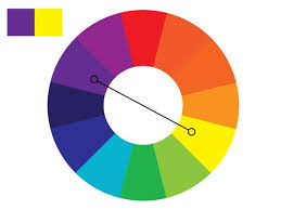 Examples would be blue and orange, red and green, Yellow and purple, etc. Complementary  color schemes create a high ...