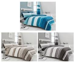stripe duvet cover bed sets in taupe