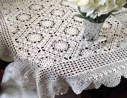 Crochet Tablecloth Pattern Delectable Noemie Ecru Raised Pattern Crochet Tablecloth Noemie Hand