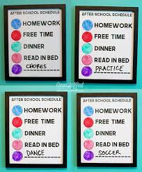 After School Routine Clock For Kids With Variable Schedules