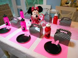 Pink And Black Minnie Mouse Decorations Nice Party Supplies Party Supplies
