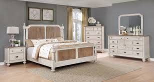 Antique White & Pine Queen Bedroom Set | My Furniture Place