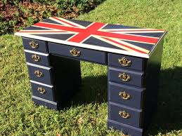 union jack furniture uk. union jack desk done by the rusty soprano on facebook with maisonblanche paint in navy furniture uk s