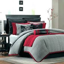 deep red comforter black white and full size of sets queen velvet red and black comforter set queen full white sets