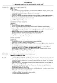 Sample Sports Resume Sports Director Resume Samples Velvet Jobs