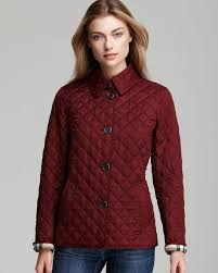 Burberry Brit Copford Quilted Jacket in Red | Lyst & Gallery Adamdwight.com