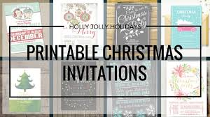 printable christmas invitations printable christmas holiday party invitations holly jolly holidays