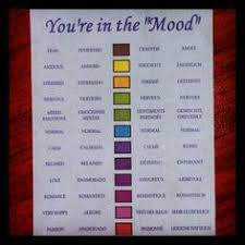 You Re In The Mood Ring Color Chart Mood Ring Chart