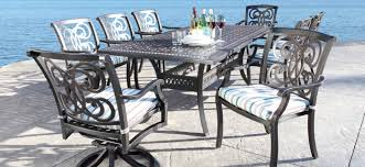 cast aluminum patio furniture dining sets regency