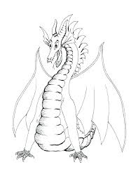 Scary Dragon Coloring Pages Colouring Kids Printable Ilovezclub