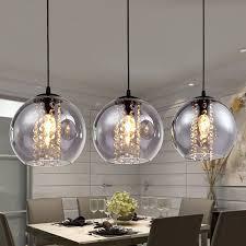 glass ball 3 light kitchen island