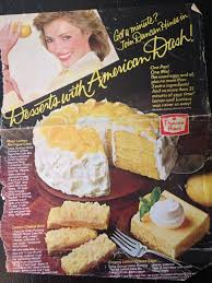 Retro Duncan Hines Cake Recipe Ad For Lemon Cakes 80s Or Early 90s