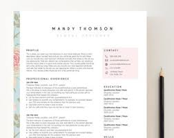 Resume Modern Temp Creative Resume Temp Etsy
