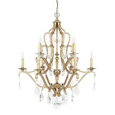 10 light chandelier with crystals included capital lighting pendant jpg