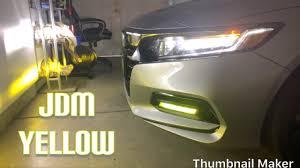 2018 Accord Fog Light Kit 2018 2019 Honda Accord Jdm Fog Light Mod